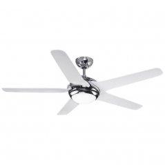 Ventilador de techo Beaufort 65W 5 aspas blanco/cromado de EDM