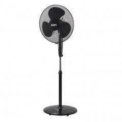 Ventilador de pie con base circular 45W 3 aspas negro de EDM