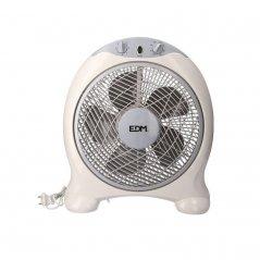Ventilador box fan 45W 5 aspas blanco/gris de EDM