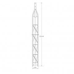 Tramo superior 2,5 m de torreta arriostrada
