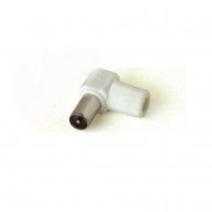 Conector cable coaxial 'IEC' acodado macho