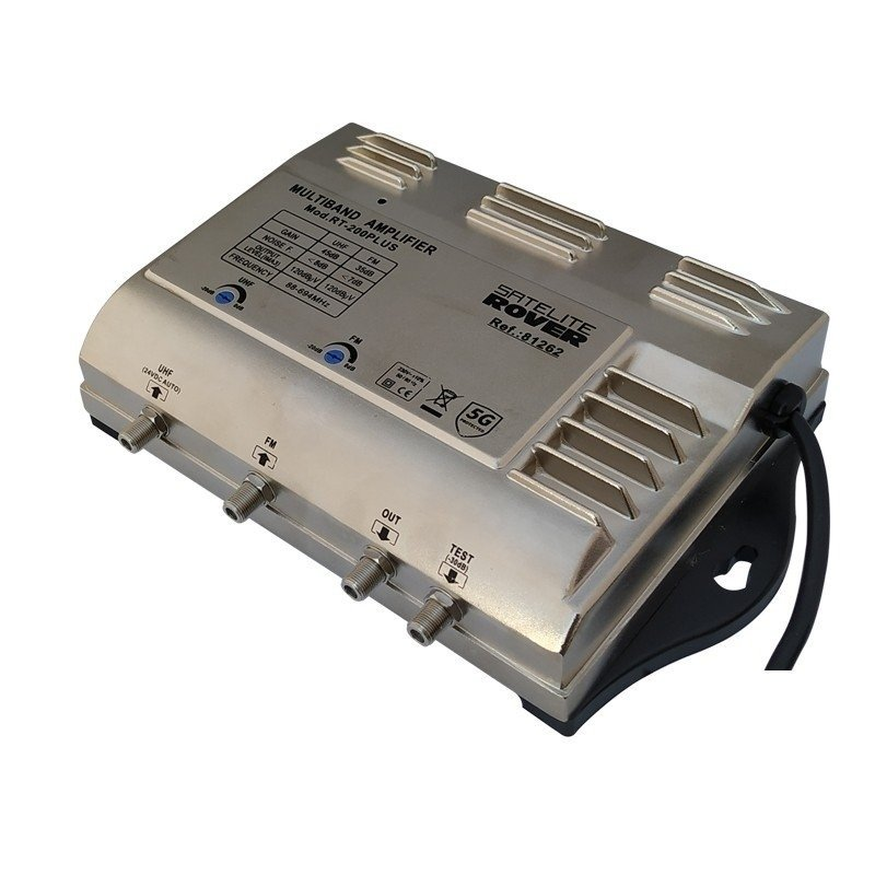 Central banda ancha 25..45 dB 2 entradas: FM, UHF LTE 2, 1 salida + TEST