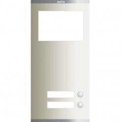 Placa Compact S3 de 2 pulsadores 1 columna con Tarjetero de Auta (ref. 651312)